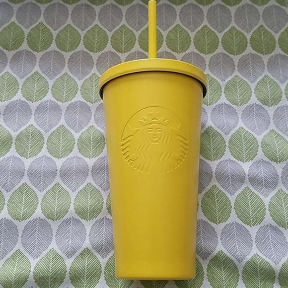 Gently Used Starbucks Yellow Stainless Cold Cup